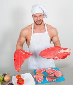 grote stuken vlees
