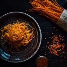 Spaghetti van wortelen & gehakt